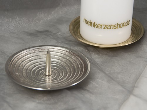 kerzenteller kerzenst nder kerzenhalter f r hochzeitskerze taufkerze silber oder gold 16802. Black Bedroom Furniture Sets. Home Design Ideas