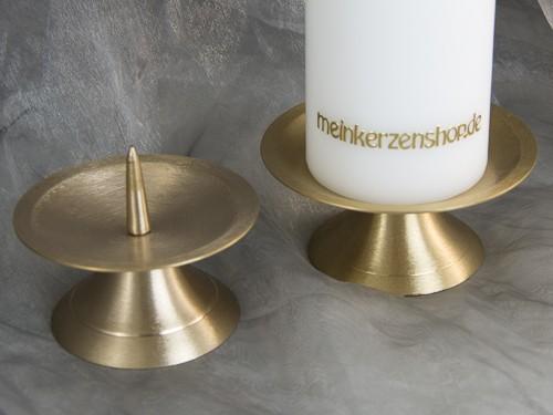 kerzenteller kerzenst nder kerzenhalter f r hochzeitskerze taufkerze gold 16548 kerzenteller und. Black Bedroom Furniture Sets. Home Design Ideas